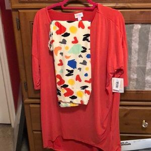 Lularoe Irma and legging Set